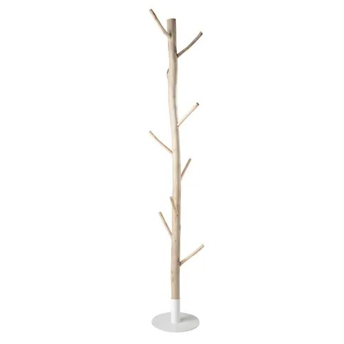 Eucalyptus And White Metal Tree Trunk Coat Stand Rivage Maisons Du Monde