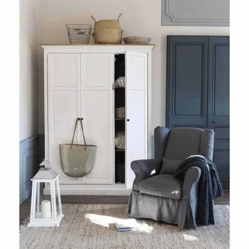 fauteuil a housser blanc maisons du monde