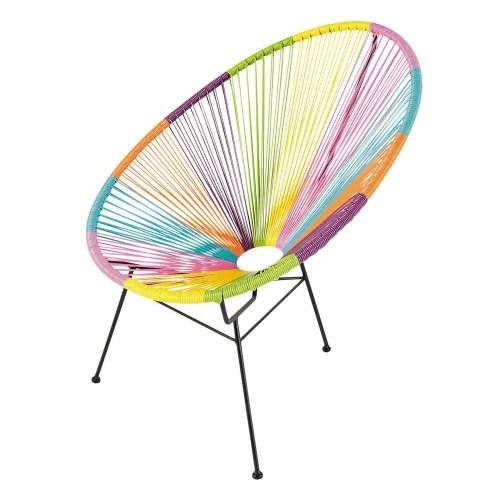 fauteuil de jardin rond multicolore maisons du monde