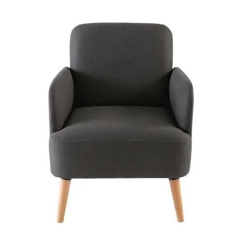 fauteuil gris anthracite maisons du monde
