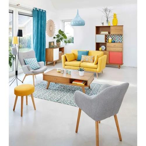 fauteuil style scandinave gris clair maisons du monde