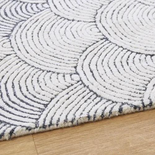 getufteter teppich zweifarbig mit grafikmustern 140x200 maisons du monde