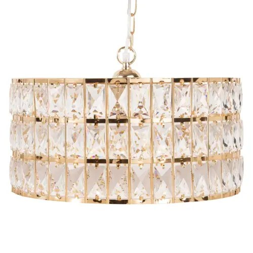 Gold Metal And Rhinestone Pendant Light Dubai Maisons Du Monde