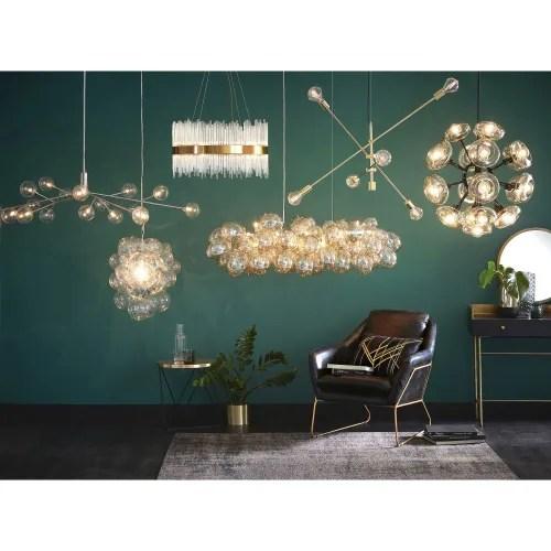 Gold Metal Ceiling Light With Glass Tubes Petula Maisons Du Monde