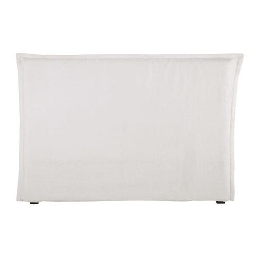housse de tete de lit 160 en lin lave blanche maisons du monde