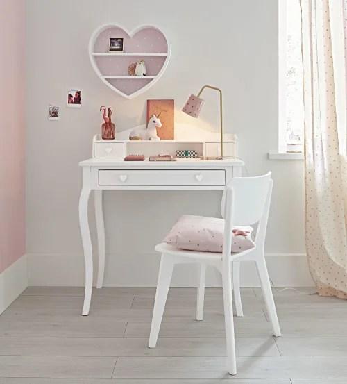 lampe de bureau en metal rose et dore maisons du monde