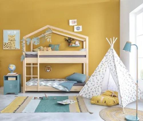 lits superposes cabane 90x190 en pin maisons du monde