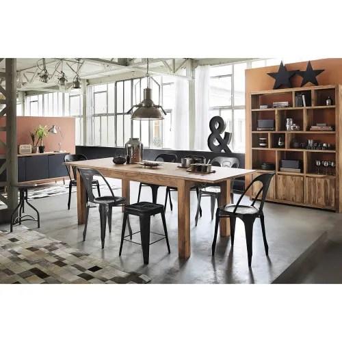 Metal Industrial Chair In Grey Multipl S Maisons Du Monde