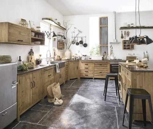 meuble bas de cuisine pour four 1 tiroir en pin recycle effet vieilli maisons du monde