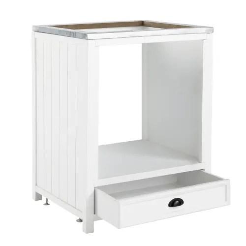meuble bas de cuisine pour four en pin blanc l70 maisons du monde