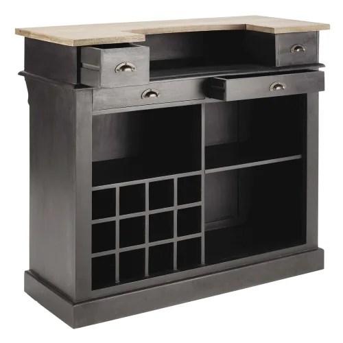 meuble de bar 4 tiroirs gris charbon maisons du monde