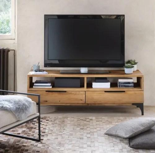 meuble tv en manguier massif maisons du monde
