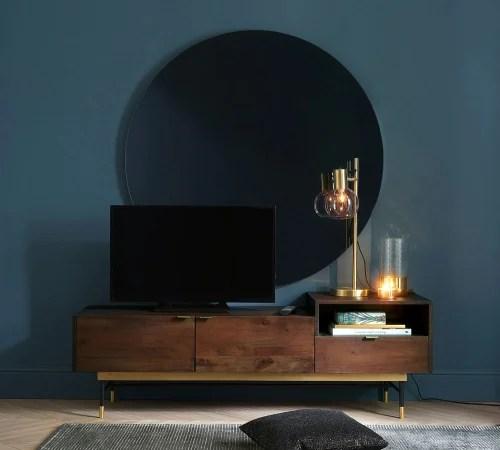 meuble tv vintage 2 portes en acacia maisons du monde