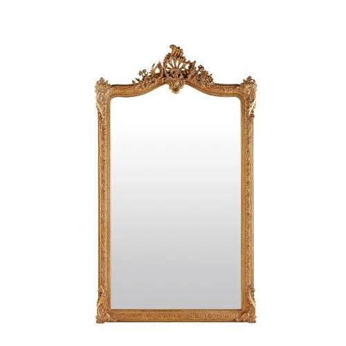 miroir a moulures dorees 104x185 maisons du monde