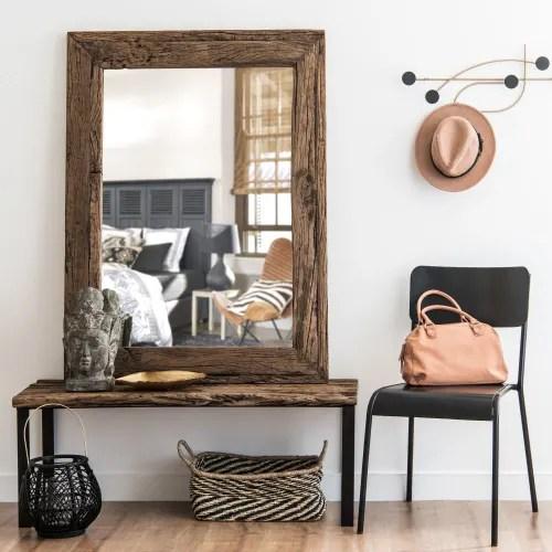 Miroir En Bois Recycle 90x120 Namibie Maisons Du Monde