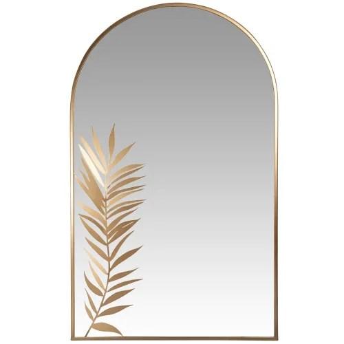 miroir en metal dore 60x100 maisons du monde