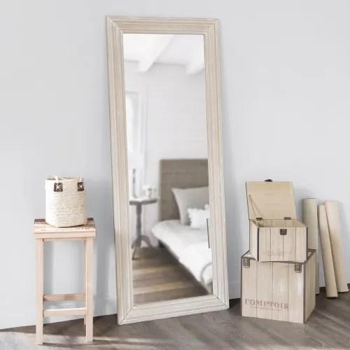 Miroir En Paulownia 59x145 Ceruse Maisons Du Monde