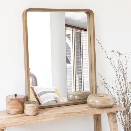 Miroir En Paulownia Marron 78x63 Elija Maisons Du Monde