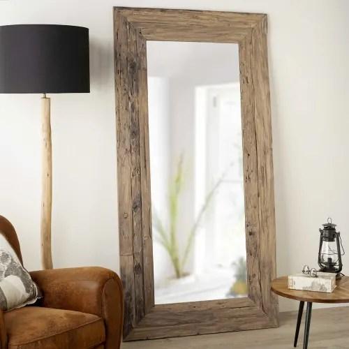 Miroir En Teck Recycle 100x200cm Woody Maisons Du Monde