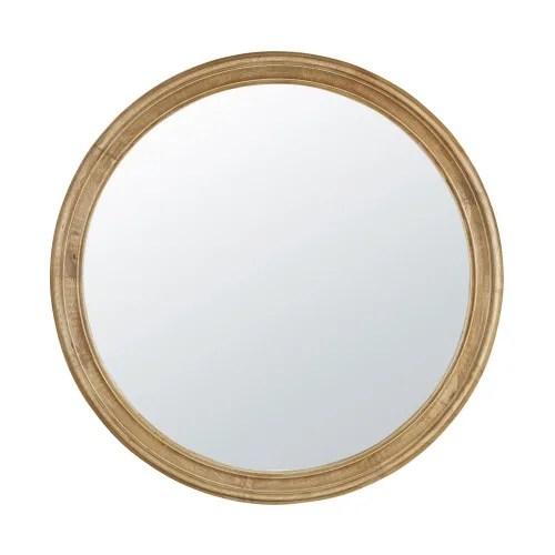 Miroir Rond En Hevea A Moulures D90 Victor Maisons Du Monde