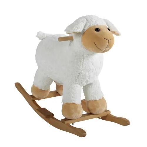 mouton a bascule en bois h 60 cm maisons du monde