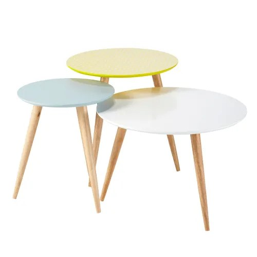 Nest Of Vintage Tables Fjord Maisons Du Monde