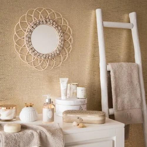 Oak Ladder Decoration In White Ines Maisons Du Monde