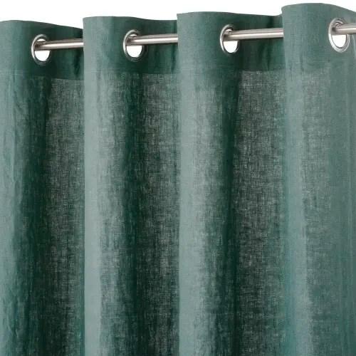 osenvorhang aus gewaschenem leinen basilikumgrun 130x300 maisons du monde
