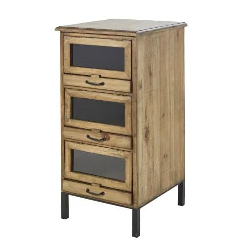 petit meuble de rangement 3 tiroirs maisons du monde