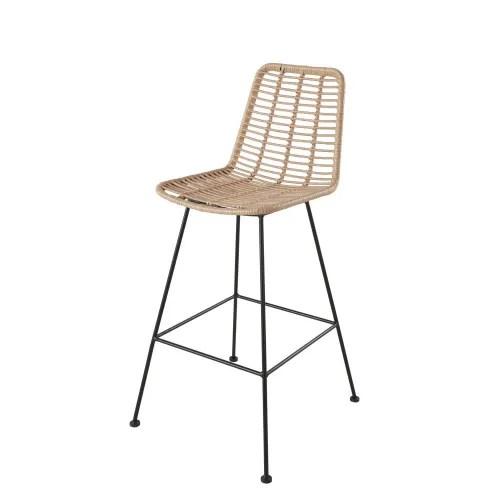 Professional Black Metal And Resin High Garden Chair Selva Business Maisons Du Monde