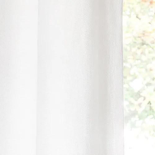 rideau a œillets en lin lave blanc a l unite 130x300 maisons du monde
