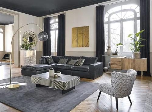 rideau a œillets en velours noir a l unite 140x300 maisons du monde