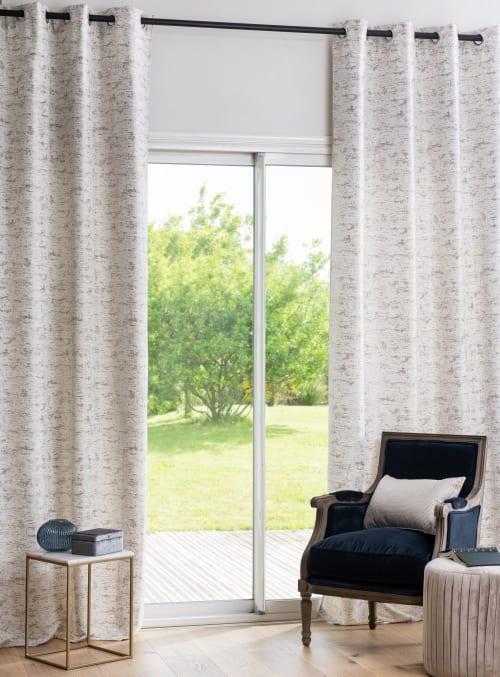 rideau a œillets gris clair a l unite 140x270 maisons du monde