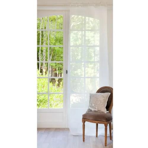 schlaufenvorhang aus leinen ecru 105x300 1 vorhang maisons du monde