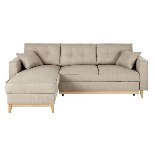 Sofá cama de tono beige