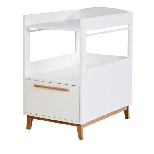 table a langer 1 etagere 1 tiroir blanche maisons du monde