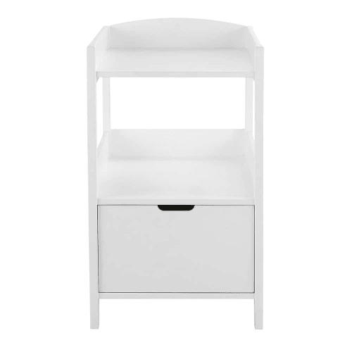 table a langer 1 tiroir blanche maisons du monde