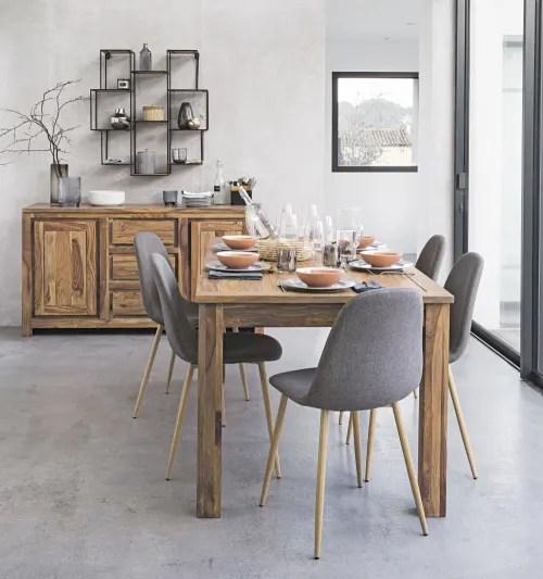 Table A Manger Extensible En Sheesham 8 A 10 Personnes L180 240 Stockholm Maisons Du Monde