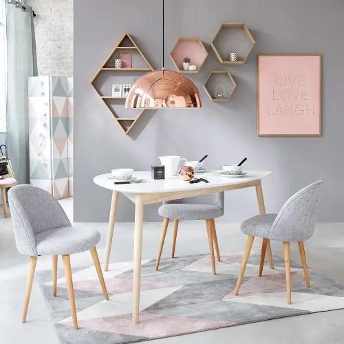 table a manger style scandinave blanche 4 5 personnes l150 maisons du monde