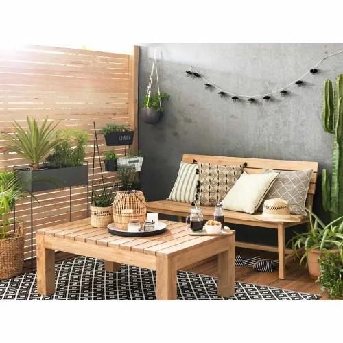 table basse de jardin en teck l 102 maisons du monde