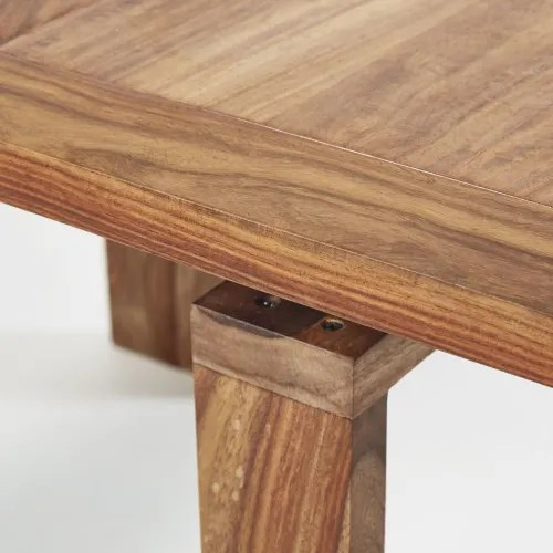 table console extensible en sheesham massif 2 6 personnes l40 160 maisons du monde