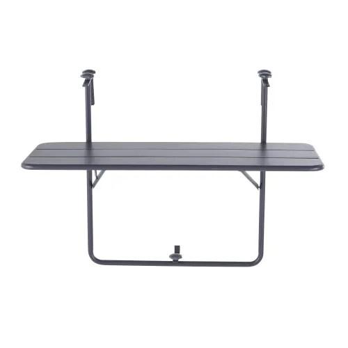 table de balcon rabattable en metal gris l88 maisons du monde