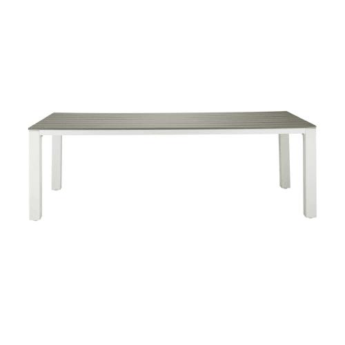 table de jardin 8 10 personnes en aluminium et composite l230 maisons du monde