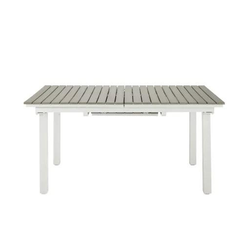 table de jardin extensible 6 10 personnes en aluminium et composite l157 maisons du monde