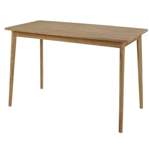 table haute de jardin en acacia massif 6 personnes l150