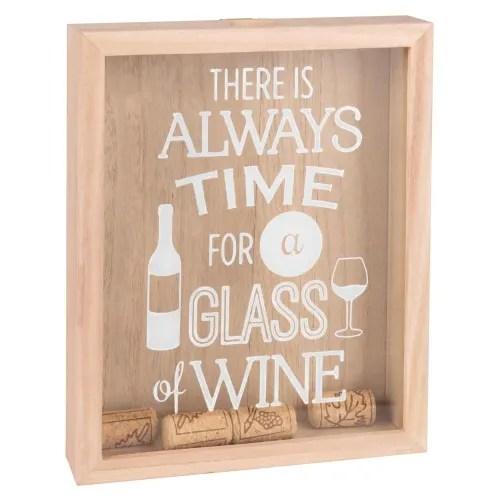 Tableau Imprime Avec Bouchons De Liege 21x26 Wine Time Maisons Du Monde