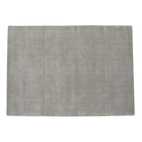tapis a poils courts en laine gris 160 x 230 cm maisons du monde