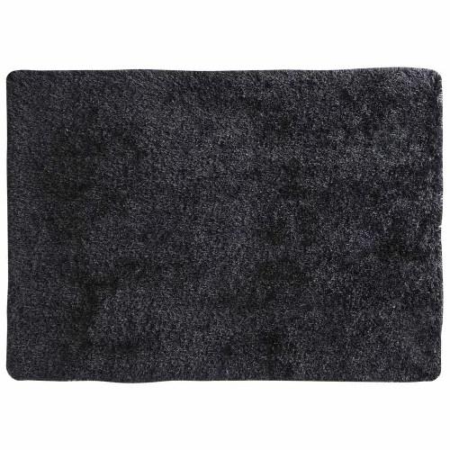tapis a poils longs en tissu anthracite 200 x 300 cm maisons du monde