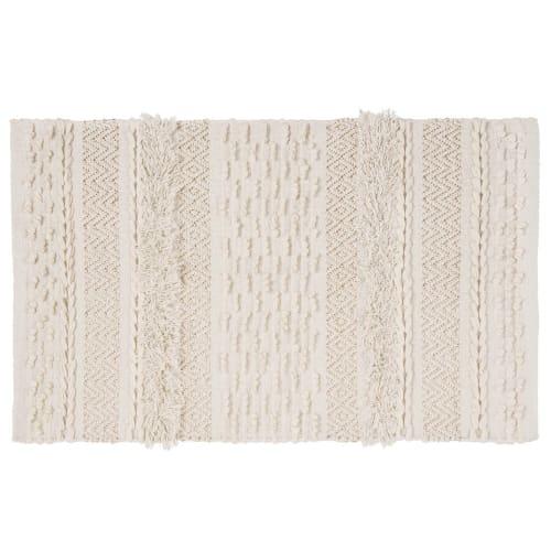 tapis berbere en coton ecru 60x90 maisons du monde