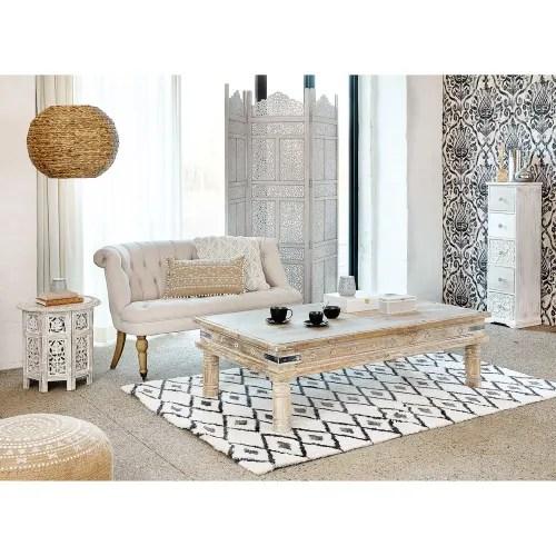 tapis berbere noir et blanc 140x200 maisons du monde